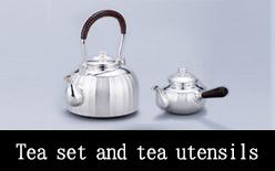 Tea set and tea utensils